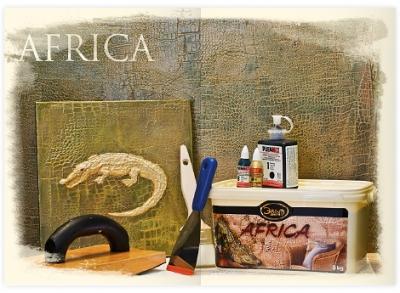 """Africa - декоративная штукатурка """"под кожу животных"""""""